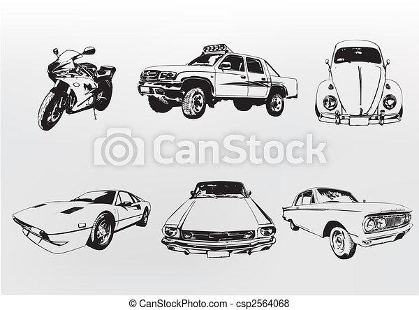 Silhouette cars - csp2564068