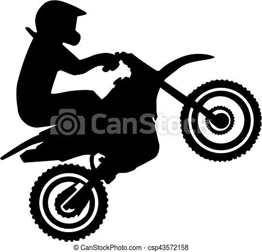 silhouette  chauffeur  motocross clipart vectoriel motocross logo stickers motocross logo design