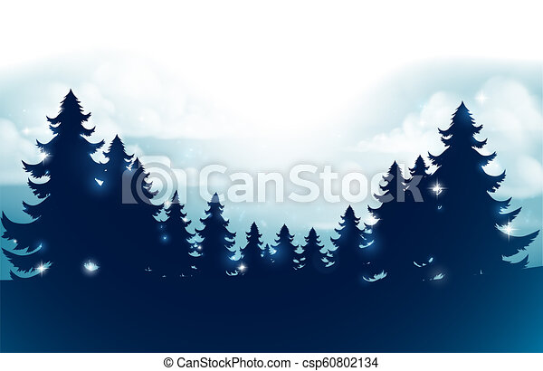 Christmas Trees Silhouette.Silhouette Christmas Trees Background