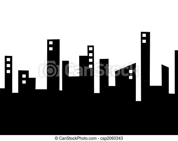 silhouette city csp2060343