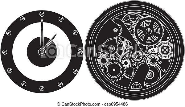 silhouette clockwork  - csp6954486