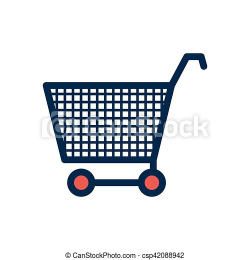 silhouette color with shopping cart - csp42088942