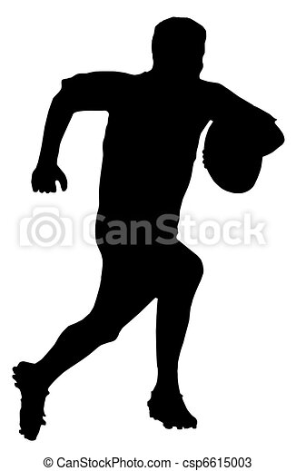 silhouette, coureur, football, -, rugby, sport - csp6615003