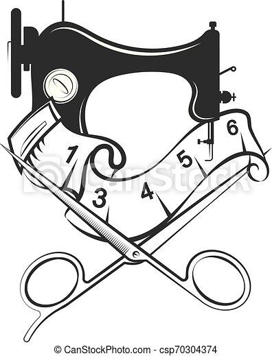 silhouette, découpage, conception, couture - csp70304374