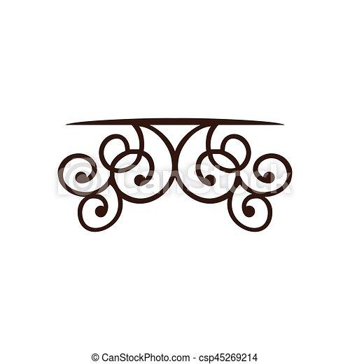 silhouette decorative ornament frames corner design