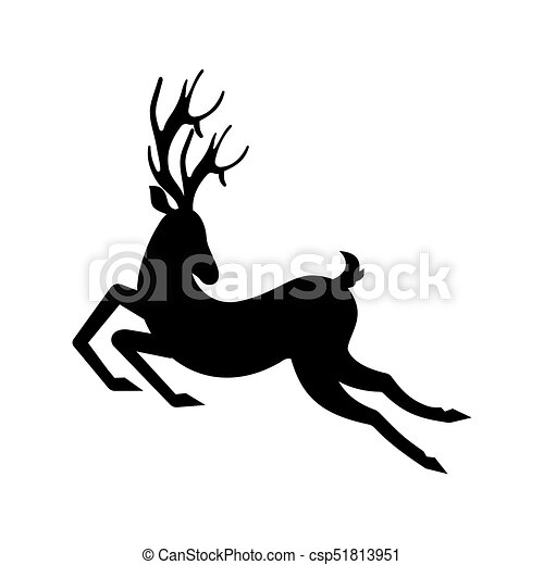 Reindeer Moving Leaping Stag