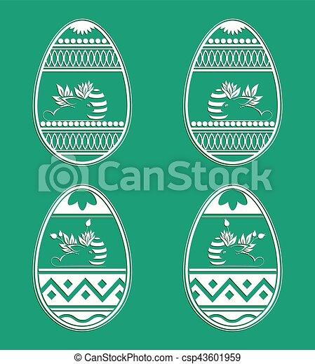 silhouette Easter eggs - csp43601959