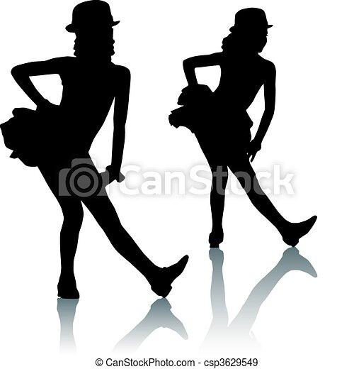 silhouette, enfants - csp3629549