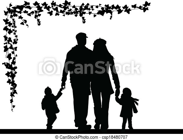 Familie Silhouette - csp18480707