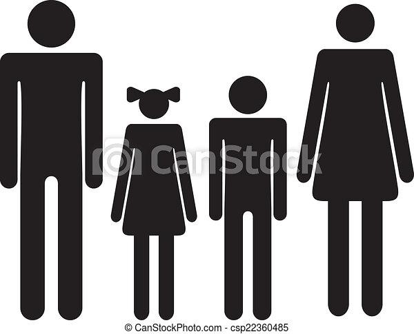 Man Woman Or Boy Girl Symbol Set Well Dressed Man Woman Or Boy Girl