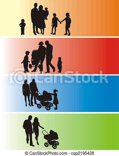 Silhouette Family - csp2195428