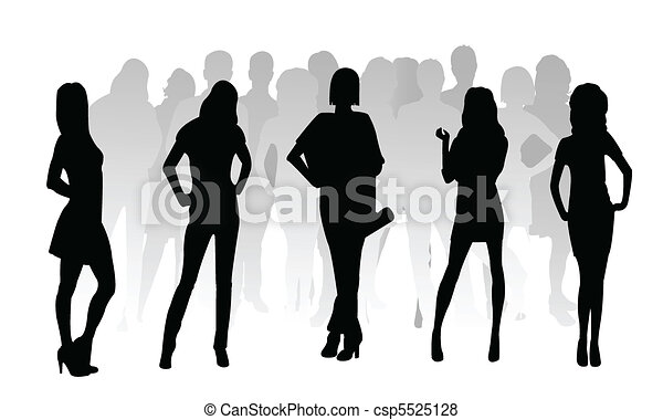 silhouette fashion girls  - csp5525128