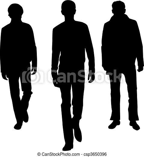 Silhouette fashion men - csp3650396