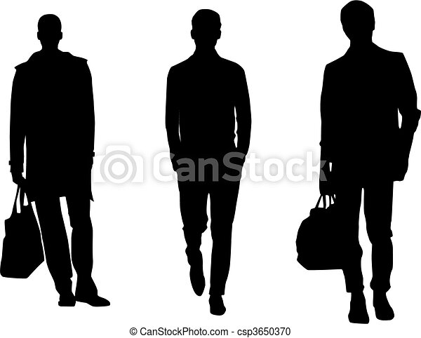 silhouette fashion men rh canstockphoto com Vector Guy Vector Guy