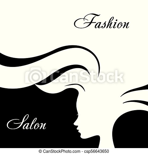 Silhouette Fashion Woman With Long Hair Hair Style Design For Beauty Salon Flyer Or Banner Stock Vector Illustration