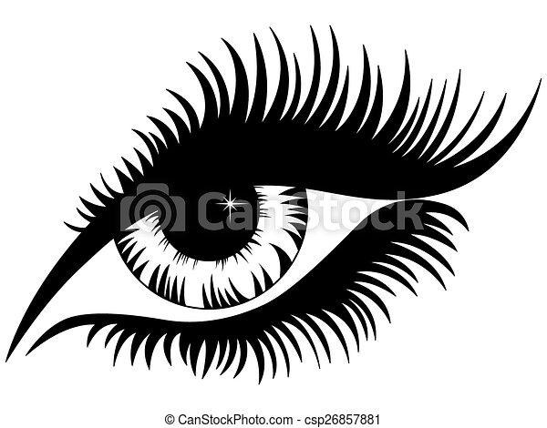 silhouette femelle noire oeil silhouette sur isol. Black Bedroom Furniture Sets. Home Design Ideas