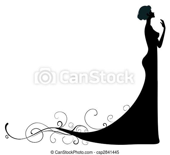 Super Illustrations sous licence de silhouette, femme - silhouette, fond  OI74