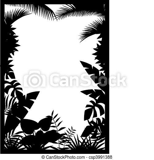 silhouette, foresta - csp3991388