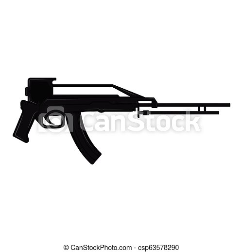 silhouette, fusil - csp63578290