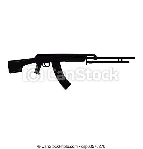 silhouette, fusil - csp63578278