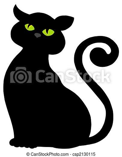 Silhouette gatto silhouette illustration isolato for Gatto clipart