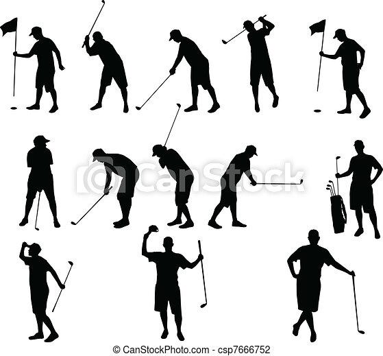 silhouette, golf - csp7666752