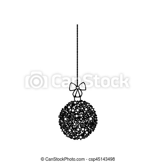 Christmas Wreath Silhouette.Silhouette Hanging Christmas Wreath Of Glass With Star Decorations