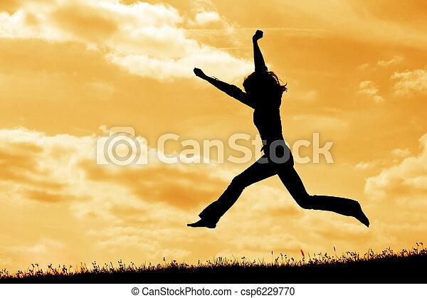 silhouette jump - csp6229770