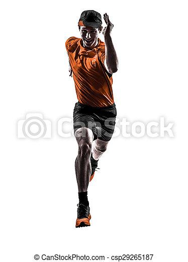 Man Läufer, der joggt - csp29265187