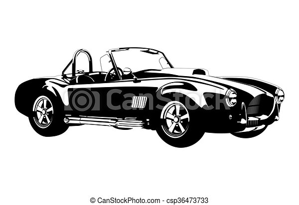silhouette ?lassic sport car ac cobra roadster - csp36473733