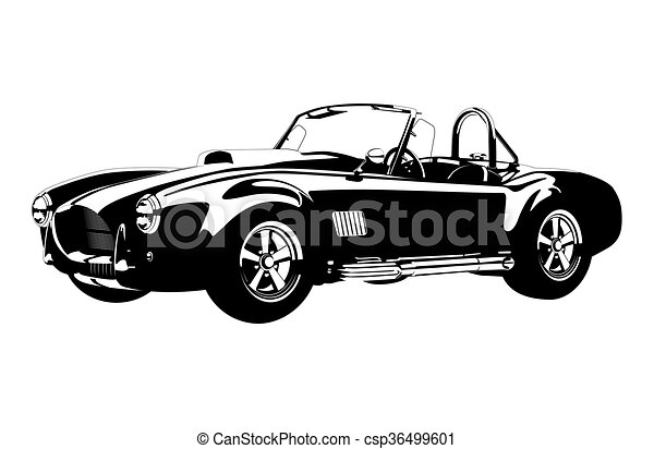 silhouette ?lassic sport car ac shelby cobra roadster - csp36499601
