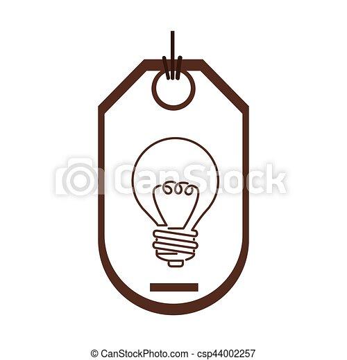 Silhouette, licht, preis, widerstand, etikett, zwiebel.... Clipart ...