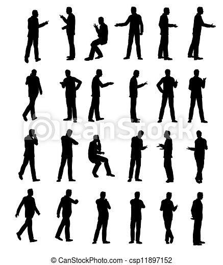silhouette, man - csp11897152