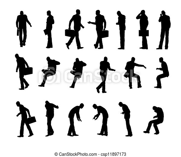 silhouette, man - csp11897173