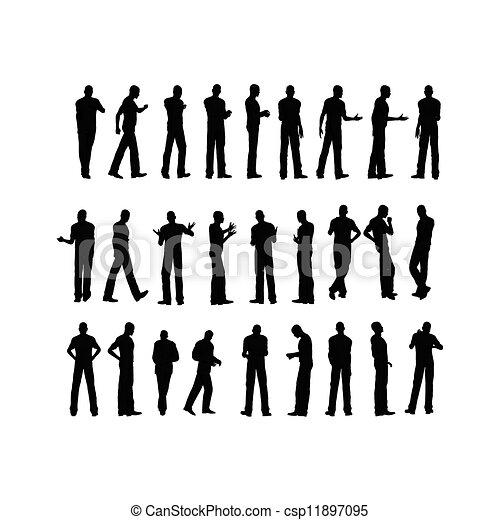 silhouette, man - csp11897095