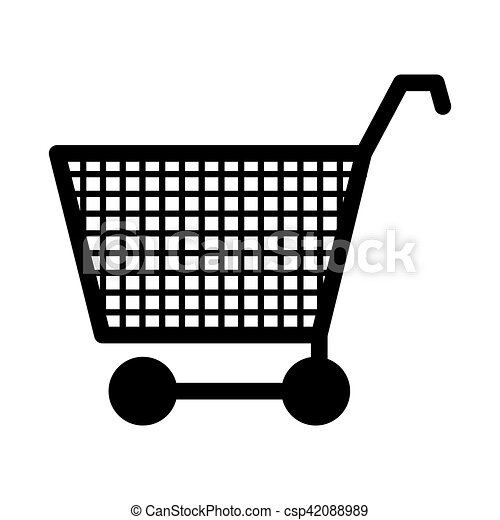 silhouette monochrome with shopping cart - csp42088989