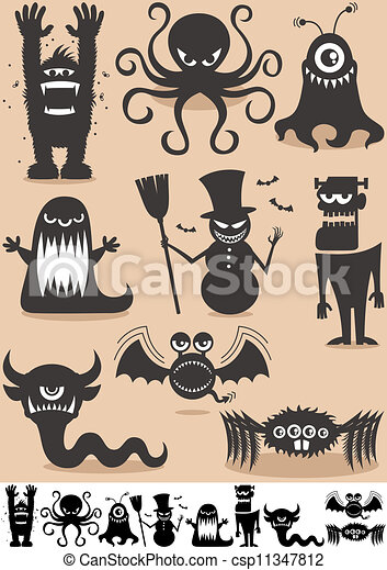 Silhouette Monsters - csp11347812