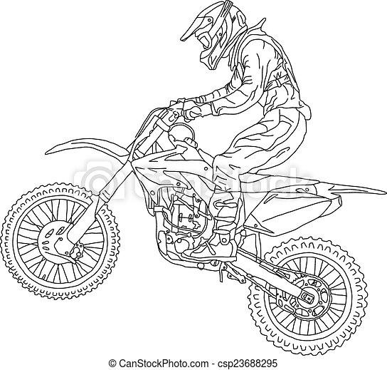 Disegni Da Colorare Moto Cross Acolore