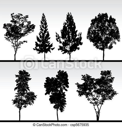 silhouette noir arbre arbre ensemble silhouette isol clipart vectoriel rechercher. Black Bedroom Furniture Sets. Home Design Ideas