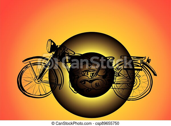 silhouette of a bicycle - csp89655750