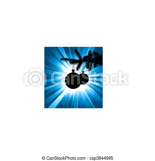 silhouette of a Christmas tree - csp3844995