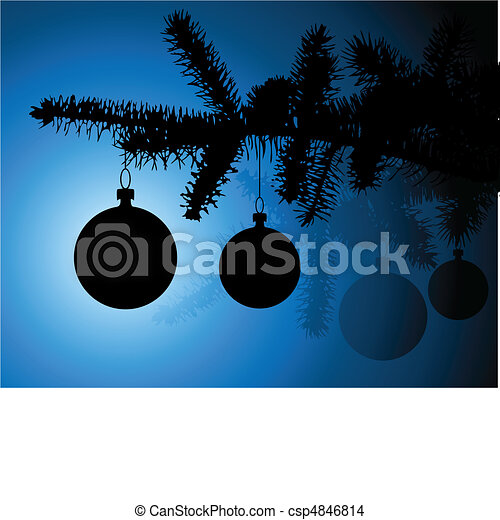 silhouette of a christmas tree - csp4846814