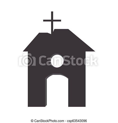 Silhouette of a church - csp63543096
