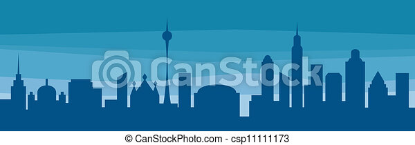 silhouette of a city  - csp11111173
