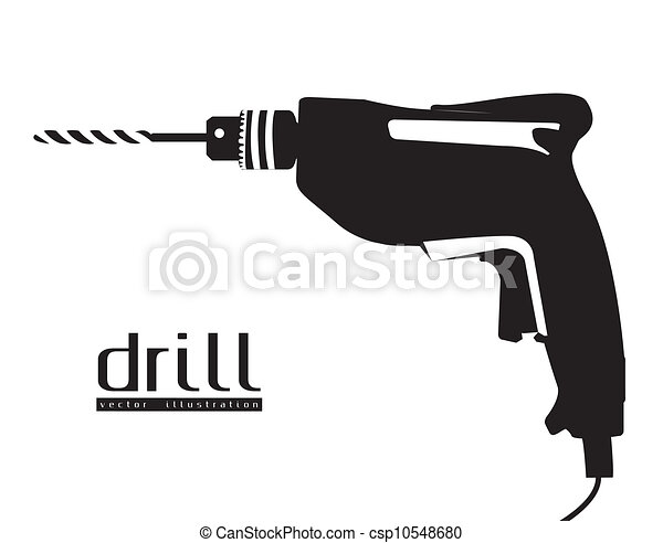 silhouette of a drill  - csp10548680