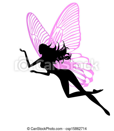 Silhouette of a fairy isolated  - csp15862714