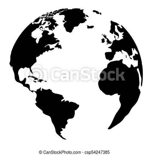 isolated silhouette of a globe vector illustration design vector rh canstockphoto com globe vectoriel free globe vector free download