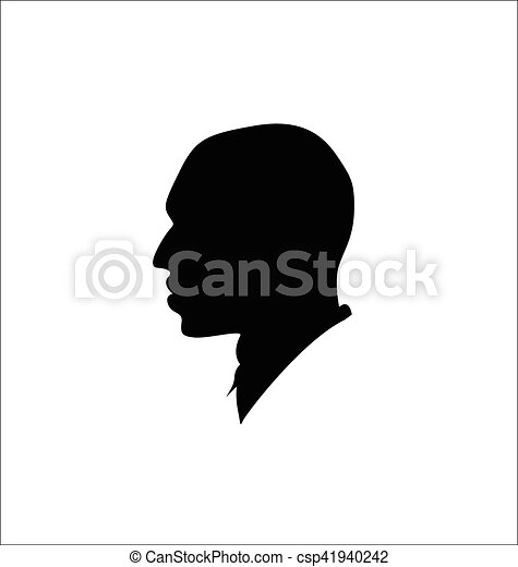 Silhouette of a man - csp41940242