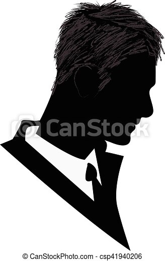 Silhouette of a man - csp41940206
