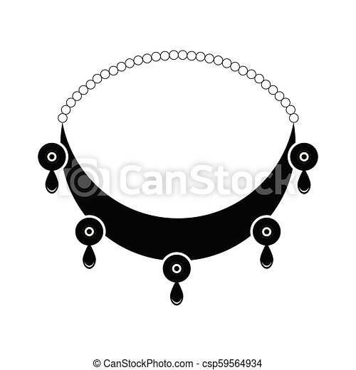Silhouette of a necklace - csp59564934